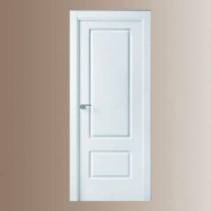 puerta lacada blanca maciza