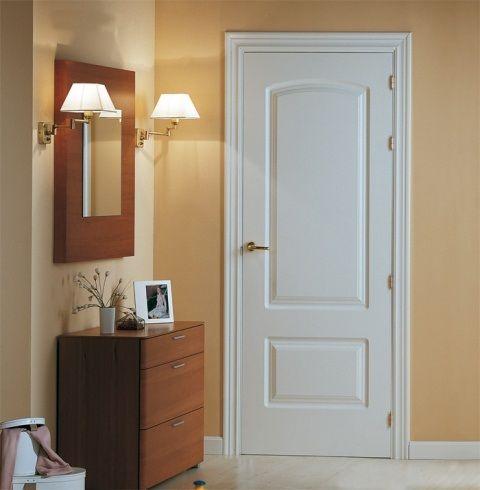Puerta blanca lacada maciza modelo u 22 - Puertas de interior blancas precios ...