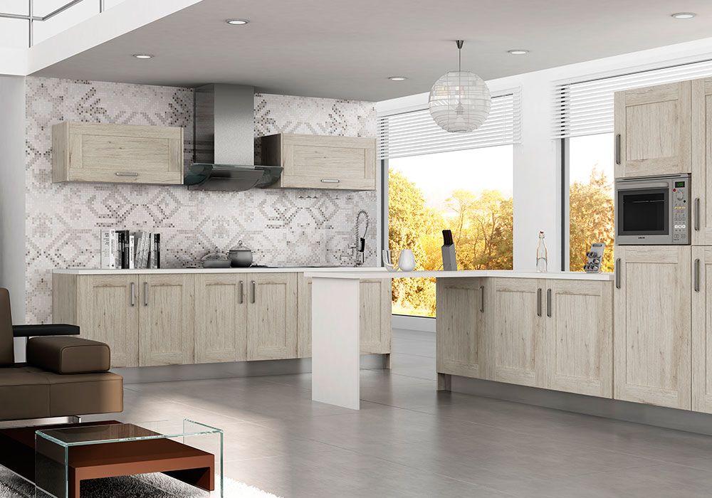 Muebles de Cocina Madera rustica mod.quadro syncron