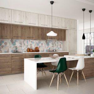 cocinas de madera combinadas